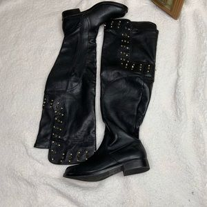 JustFab over knee studded boots